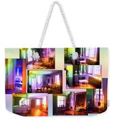 Chicago Art Institute Miniature Rooms Prismatic Collage Weekender Tote Bag
