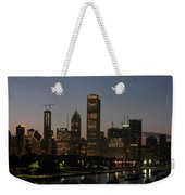 Chicago At Night Weekender Tote Bag