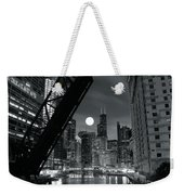 Chicago Black And White Nights Weekender Tote Bag