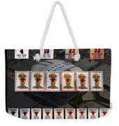 Chicago Bulls Banners Collage Weekender Tote Bag