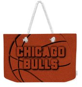 Chicago Bulls Leather Art Weekender Tote Bag