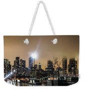 Chicago City At Night Weekender Tote Bag
