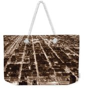 Chicago City Lights West B W Weekender Tote Bag