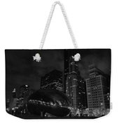 Chicago Cloud Gate Night Weekender Tote Bag