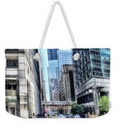 Chicago Concrete Canyons Weekender Tote Bag