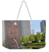 Chicago Crown Fountain 8 Weekender Tote Bag