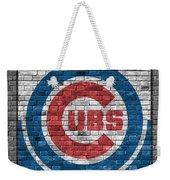Chicago Cubs Brick Wall Weekender Tote Bag