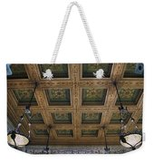 Chicago Cultural Center Staircase Ceiling Weekender Tote Bag