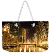 Chicago Downtown City  Night Photography Weekender Tote Bag