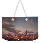 Chicago Dusk Weekender Tote Bag