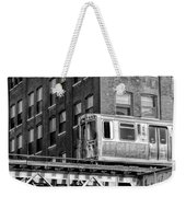 Chicago El And Warehouse Black And White Weekender Tote Bag