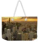 Chicago Evenings 2 Weekender Tote Bag