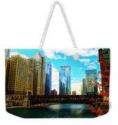 Chicago Fall Weekender Tote Bag