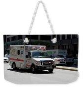 Chicago Fire Department Ems Ambulance 35 Weekender Tote Bag