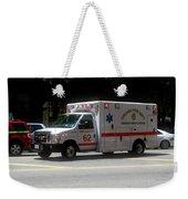 Chicago Fire Department Ems Ambulance 62 Weekender Tote Bag