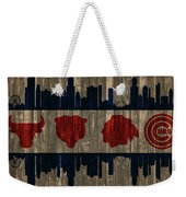 Chicago Flag Barn Door Weekender Tote Bag