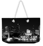 Chicago Grant Park Grayscale Weekender Tote Bag