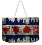 Chicago Grunge Flag Weekender Tote Bag