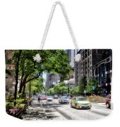 Chicago Hailing A Cab In June Weekender Tote Bag