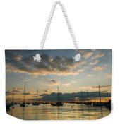 Chicago Harbor Sunrise Weekender Tote Bag