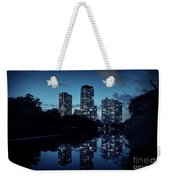 Chicago High-rise Buildings By The Lincoln Park Pond At Night Weekender Tote Bag