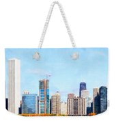 Chicago Illinois Skyline Painterly Triptych Plate Three Of Three 20180516 Weekender Tote Bag