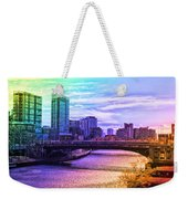 Chicago In November Chicago River South Branch Pa Rainbow 02 Weekender Tote Bag