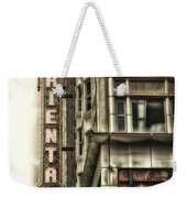 Chicago In November Oriental Theater Signage Vertical Weekender Tote Bag