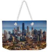 Chicago Looking East 01 Weekender Tote Bag