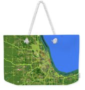 Chicago Map, Old Map, Abstract, Abstract Art, Blue, Blue And Purple Art Weekender Tote Bag