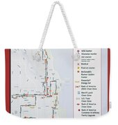 Chicago Marathon Race Day Route Map 2014 Weekender Tote Bag