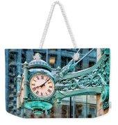 Chicago Marshall Field State Street Clock Weekender Tote Bag