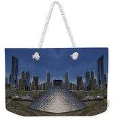 Chicago Millennium Park Bp Bridge Mirror Image Weekender Tote Bag