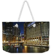 Chicago Night Lights Weekender Tote Bag