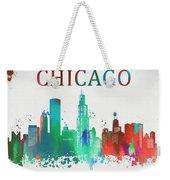 Chicago Paint Splatter Weekender Tote Bag