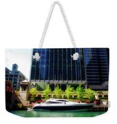 Chicago Parked On The River By 320 River Bar Weekender Tote Bag
