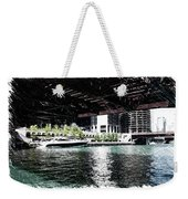 Chicago Parked On The River In June 03 Pa 01 Weekender Tote Bag