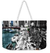 Chicago Parked On The River Walk 03 Sc Weekender Tote Bag