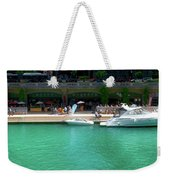Chicago Parked On The River Walk Panorama 01 Weekender Tote Bag