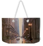 Chicago Rainy Street Weekender Tote Bag