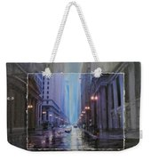 Chicago Rainy Street Expanded Weekender Tote Bag by Anita Burgermeister