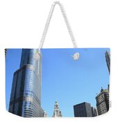 Chicago River And Skyline Weekender Tote Bag