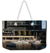 Chicago River Boats Weekender Tote Bag