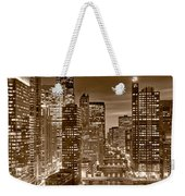 Chicago River City View B And W Weekender Tote Bag