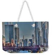 Chicago River East Weekender Tote Bag