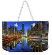 Chicago River East Weekender Tote Bag