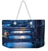 Chicago River First Light Weekender Tote Bag