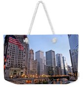 Chicago River From The Michigan Avenue Bridge Weekender Tote Bag