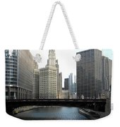 Chicago River Weekender Tote Bag