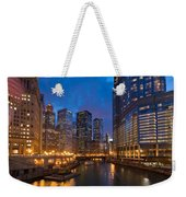 Chicago River Lights Weekender Tote Bag